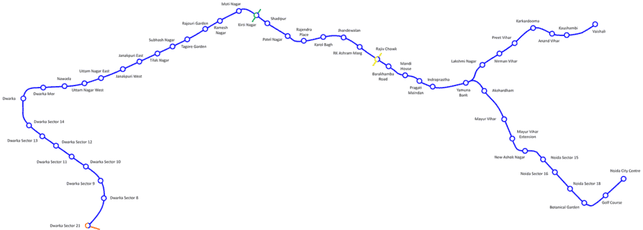 delhi metro blue line